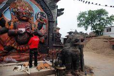 Nepal earthquake fails to shake people's faith - Kaal Bhairav temple at Basantapur Durbar