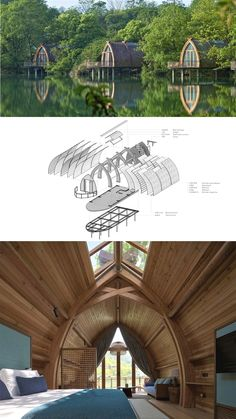 Rooms on the Fuchun River-The Design Institute of Landscape and Arch. - Rooms on the Fuchun River-The Design Institute of Landscape and Architecture China Acad - Bamboo Architecture, Concept Architecture, Sustainable Architecture, Interior Architecture, Floating Architecture, Natural Architecture, Chinese Architecture, Futuristic Architecture, Bamboo House Design
