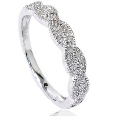 1 4ct Pave Diamond Infinity Vintage Wedding Ring Band 14k White Gold Size 4 9 | eBay