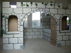 Cardboard Castle for a classroom
