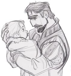 The King and baby Rapunzel Jin Kim | Graphite Happy Father's Day! Source: The Art of Tangled, pg 148 [scanned & spruced up in phot...