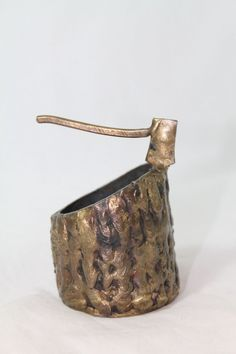 "Vintage Solid Brass Axe And Decapitation Stump 3"" x 2"" Rare Weird Oddities  http://stores.ebay.com/Pontiac-Pickings"