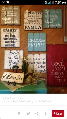 Painted old fence boards with your favorite quotes