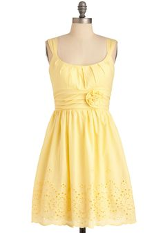 I know I pinned this already in green, but I really like it! Mint Milkshake Dress in Banana, Modcloth, $52.99