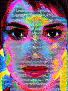 Winona Forever-Sometimes, the only way to stay sane is to go a little crazy-Winona Ryder made out of abstracts