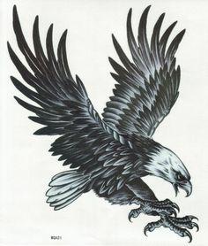 Amazon.co.jp: TATTOO 特大 タトゥーシール 鷹 鷲 イーグル