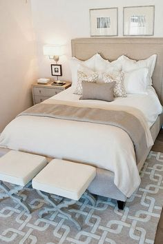neutral and light bedroom