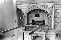 Women's concentration camp ovens. One of the many crema ovens at Ravensbruck concentration camp.