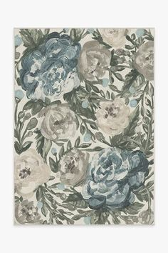 Our Camellia Jade rug uses textured brush strokes in pastel colors to create a romantic floral motif. Soften a room with this delicate floral design. Washable Area Rugs, Machine Washable Rugs, Coral Rug, Navy Rug, Pink Rug, Up House, Black Rug, White Rug, Natural Rug