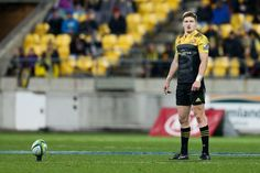 Jordie Barrett Photos - Jordie Barrett of the Hurricanes lines up a kick during the round 17 Super Rugby match between the Hurricanes and the Crusaders at Westpac Stadium on July 15, 2017 in Wellington, New Zealand. - Super Rugby Rd 17 - Hurricanes v Crusaders