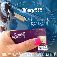 "Scentsy makes me say ""I LOVE MY JOB"" every month!! Extra income never hurt anybody! Join my team - this could be you next month!"