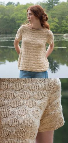 d9d2ce8963d1e0 Free knitting pattern for a knit purl Summer tee