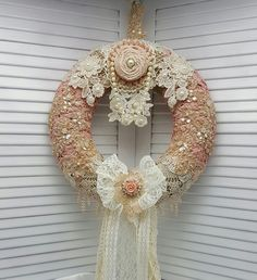 Country Chic Wall Decor  Year Round Wreath  by Chiclaceandpearls