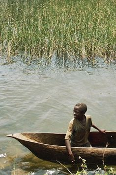 A canoe on lake Kivu - , Sud-Kivu - Democratic Republic of Congo