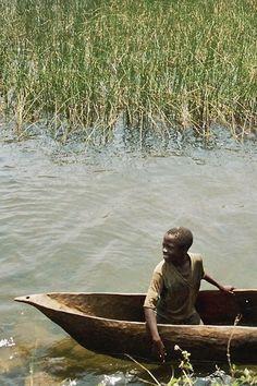 A canoe on lake Kivu - , Sud-Kivu - Democratic Republic of Congo