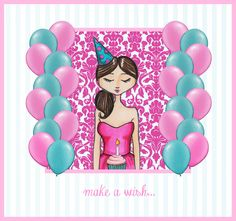 birthday illustration make a wish quotes