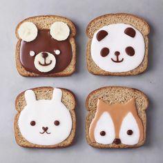 Cute animal toast art by J o s e (@naturally.jo)