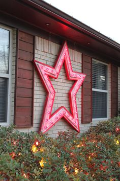 Giant Barnwood Star on the front of the House