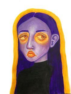 Pretty Art, Cute Art, Arte Peculiar, Arte Indie, Funky Art, Hippie Art, Art Drawings Sketches, Psychedelic Art, Surreal Art