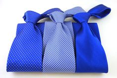 The Tie Bar's Royal Blue ties are a great match for David's Bridal Horizon, www.thetiebar.com