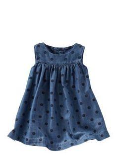 OshKosh Bgosh  2-Piece Dotted Chambray Dress