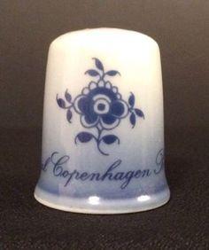 Royal Copenhagen Blue & White Porcelain Thimble