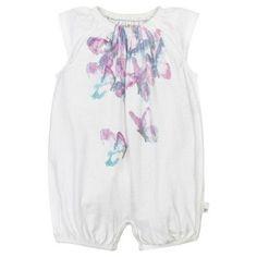 Baby Girls' Organic 2pk Rompers Heather Gray 3-6 M - Burt's Bees Baby