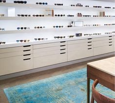 Lighting Wooden Polarized Sunglass Display Stand Lockable Optical Shop Interior Design | China Beauty Salon Equipment Supplier Showroom Design, Shop Interior Design, Store Design, Sunglass Display, Beauty Salon Equipment, Designer Bar Stools, Glasses Shop, Optical Shop, Shop Interiors