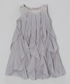 Look what I found on #zulily! Gray Tulle Shift Dress - Toddler & Girls by Blossom Couture #zulilyfinds