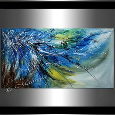Modern Painting 64 Beauty in Blue Thick layers by largeartwork Artist Canvas, Canvas Art, Modern Art Artists, Blue Painting, Turquoise Painting, Large Artwork, Blue Abstract, Painting Inspiration, Original Paintings