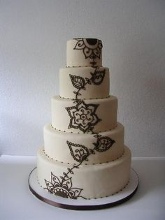 #henna #wedding #cake - gorgeous - For all your cake decorating supplies, please visit craftcompany.co.uk