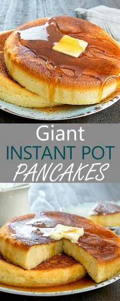 Giant Instant Pot Pancakes. Oversized Japanese-style rice cooker pancakes made in the instant pot. So easy and fun!