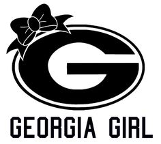 Georgia Girl Car Vinyl Decal Sticker UGA  University of Georgia