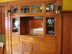 Here's a classic built-in buffet.: