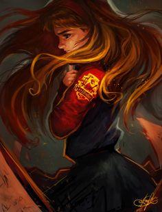Resultado de imagem para harry potter hermione art