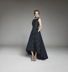 Dress, Shoes & Earrings all by  H&M Conscious Exklusive Collection H&M Conscious - Amber Valetta - ELLE.de