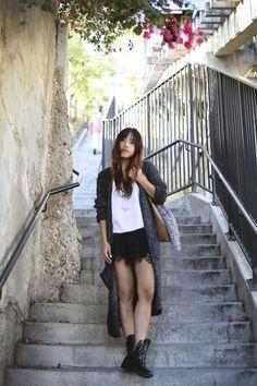 Get this look (skirt, sweater, boots) http://kalei.do/XImEXHd2mRgVDxXp