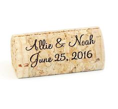 Personalized Wine Cork Place Card Holders  by CorkeyCreations