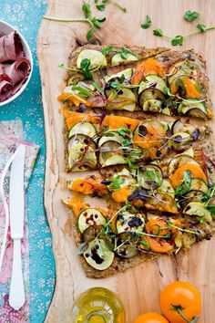 Redefine pizza with this gluten-free, grain-free, lactose-free and meat-free creation.