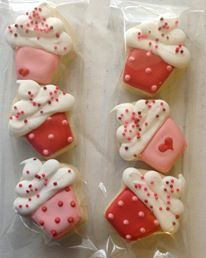 Valentine cookies like cupcakes