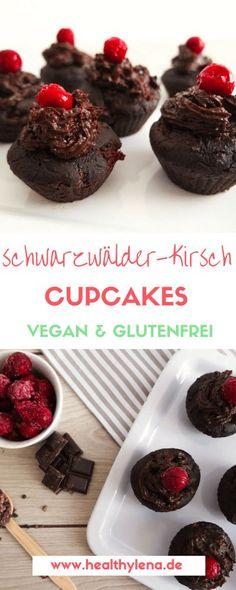 schwarzwälder kirsch cupcakes muffins vegan gesund lecker einfach schnell