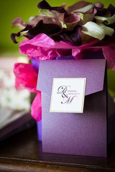 Wedding invitation purple