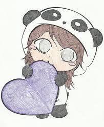 Niña panda