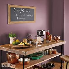 Nuanced Neutrals: Comfortable, weathered colors are the hallmark of today's midrange #neutral palette. #2015ColorTrends #BehrPaint Featured Color: Mulberry Wine T15-19