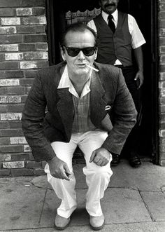 Jack Nicholson :'I always meant to go back and go to college, but after a year I decided to stay and try to be an actor.' Interviewer: Because you thought you had talent? Jack:'I've always been talented. At everything.'' #Vintage #classichollywood