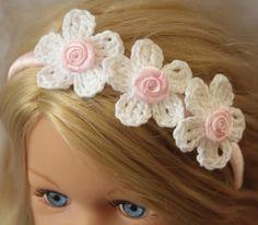 crochet flowers hairband