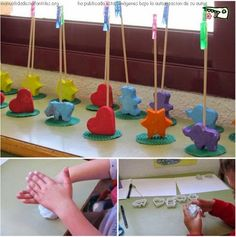 Porta fotos fang o plasti + pinxo + agulleta Kids Crafts, Preschool Crafts, Diy And Crafts, Arts And Crafts, Dad Day, Fathers Day Crafts, Cold Porcelain, Elementary Art, Diy For Kids