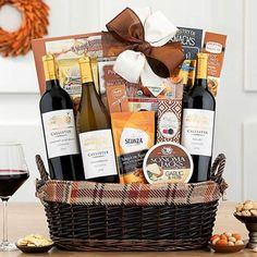 Thanksgiving Gift Baskets - Thanksgiving Holiday Basket Holiday Gift Baskets, Holiday Gifts, Spiced Almonds, Thanksgiving Holiday, Yummy Cookies, Warm And Cozy, Pumpkin Spice, Goodies, Free Shipping