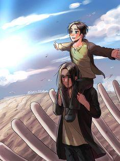 Attack On Titan Series, Attack On Titan Fanart, Ymir, Ereri, Mikasa, Attack On Titan Aesthetic, Manga Anime, Kawaii, New Image