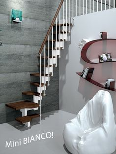 Mini Bianco Space Saver Loft Staircase